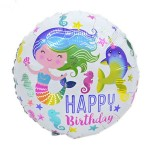 Mytex 18 Inch Birthday Mermaid Balloon ~ 2pcs