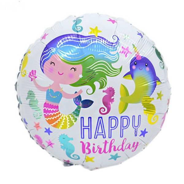 Birthday Balloons - Mytex 18 Inch Birthday Mermaid Balloon ~ 2pcs