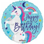 Conver USA 18 Inch Birthday Unicorn Foil Balloon