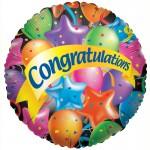 Conver USA 18 Inch Festive Congrats Balloon