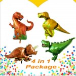 Supershape Dinosaur Foil Balloon Theme 4 in 1 Value Package