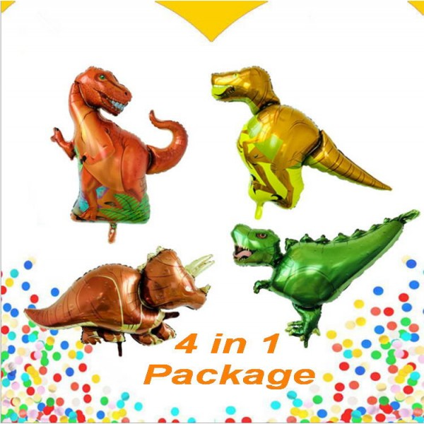 Decorator & Themed - Supershape Dinosaur Foil Balloon Theme 4 in 1 Value Package