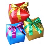Airfill 12 Inch Foil Cube Shape Gift Box