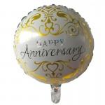 Mytex 17 Inch Anniversary Classic Balloon ~ 2pcs
