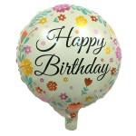 Mytex 17 inch Happy Birthday Colorful Flower ~ 2pcs