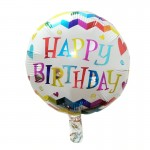 Mytex 17 Inch Birthday Colorful Words Balloon ~ 2pcs