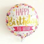 Mytex 17 Inch Birthday Words Color Polka Dots ~ 2pcs