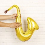 Airfill 26 Inch Supershape Musical Saxophone Instruments Balloon
