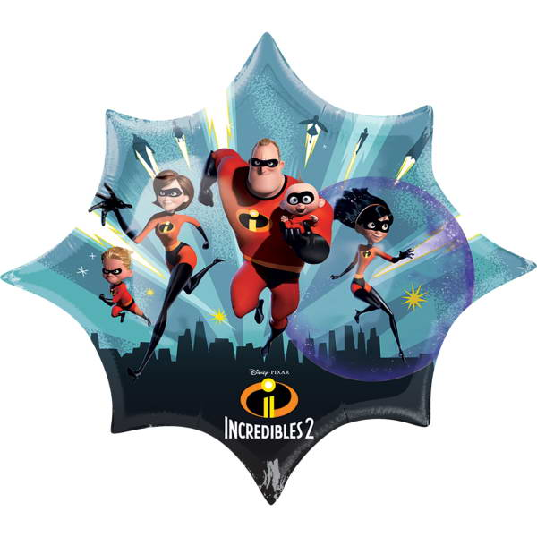 SuperShape Balloons - Anagram 35 Inch The Incredibles 2 Supershape Foil Balloon