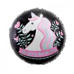 Mytex 18 Inch Unicorn Birthday in Black ~ 2pcs