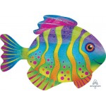 Anagram 33 Inch Colorful Fish Supershape Balloon