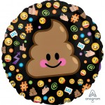 "Anagram 18"" Inch LOL Poop Emoji Balloon"