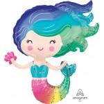 Anagram 30 Inch Colorful Mermaid Foil Balloon