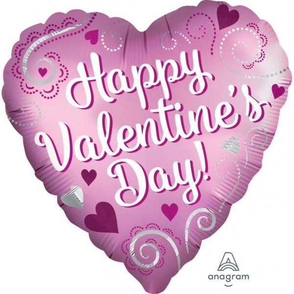 Valentine's Day - Anagram 18 Inch Satin Valentine Simple Swirls