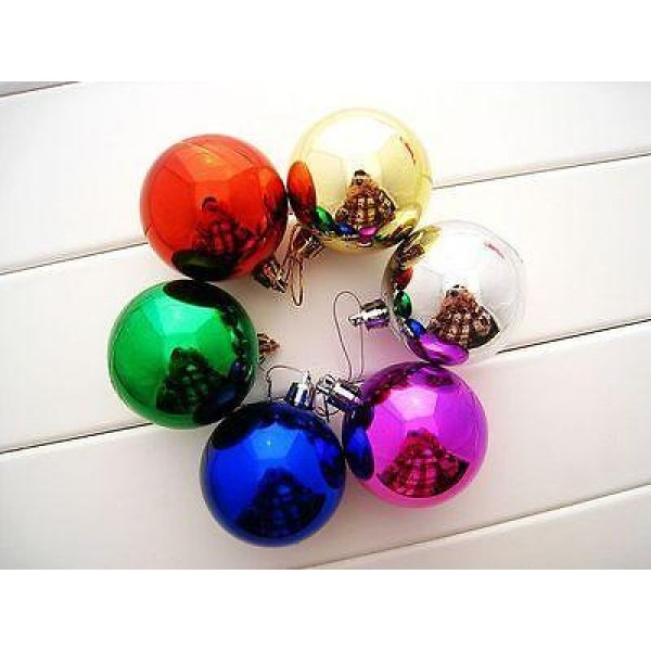 Christmas Items - 5cm Christmas Ball Ornaments Decoration ~ 6pcs