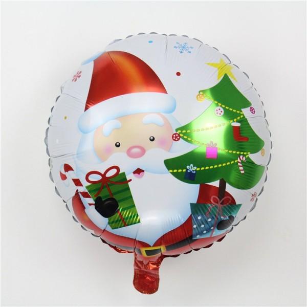Christmas Balloons - Mytex 17 Inch Santa With Tree Christmas Balloon ~ 2pcs
