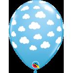 Qualatex 11 Inch Clouds In Blue Latex Balloon ~ 10pcs