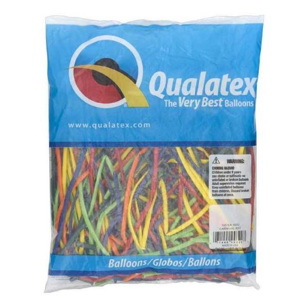 Pack of 100 Qualatex Modelling Balloons 350Q       BLUSH