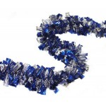 Christmas Garland Blue and Silver Tinsel ~ 2m