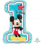 Anagram 28 Inch Mickey 1st Birthday Balloon