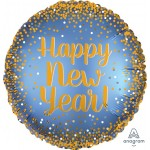 Anagram 17 Inch Gold And Satin New Year Balloon