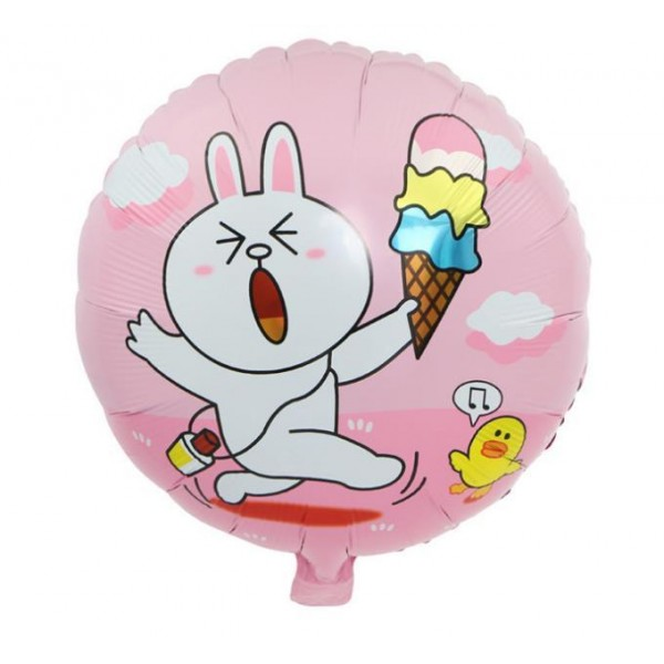 Character Balloons - 17 Inch Cute Line Cony Ice Cream With Sally