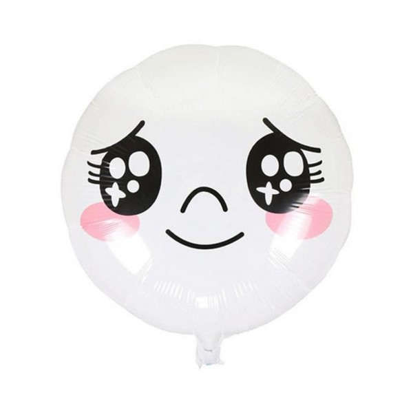 Character Balloons - 17 Inch Line Moon Touching Expression