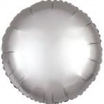 Mytex 17 Inch Platinum Silver Round Balloon ~ 5pcs