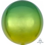Anagram Omber Orbz Yellow And Green Balloon