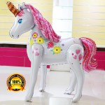 Mytex 50 Inch Magical Unicorn Giant Walker Foil Balloon
