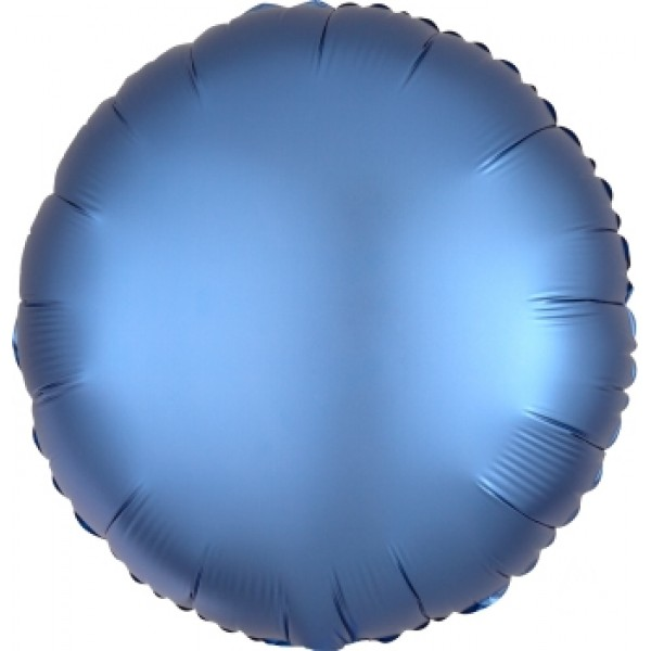 Value Pack Selection - Mytex 17 Inch Azure Blue Round Balloon ~ 5pcs