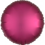 Mytex 17 Inch Matte Pomegranate Round Balloon ~ 5pcs