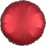 Mytex 17 Inch Red Satin Round Balloon ~ 5pcs