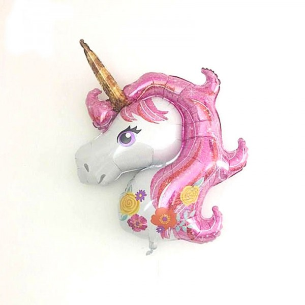 Children Balloons - 33 Inch Pink Magical Unicorn SuperShape