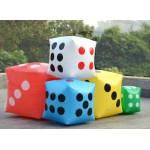 Inflatable Multi Color PVC Game Cube Dice