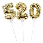 Numbers Balloons - Mytex 5inch Self Inflate Mini Foil Number Balloons