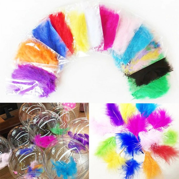 Decoration Item - Feather Confetti Decoration For Transparent Balloons