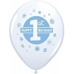 Mytex 12 Inch 1st Happy Birthday Blue Boy ~ 15pcs