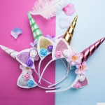 Cute Unicorn Headbands For Children Party