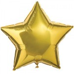 Mytex 10 Inch Gold Star Shape Balloons ~ 10pcs
