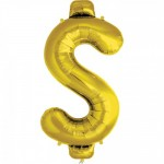 Northstar Large 34 Inch Money Sign Gold Balloon