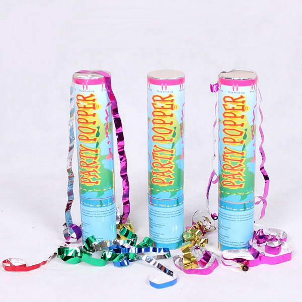 Party Popper - 20cm Party Popper Confetti Cannon ~ 4 pcs