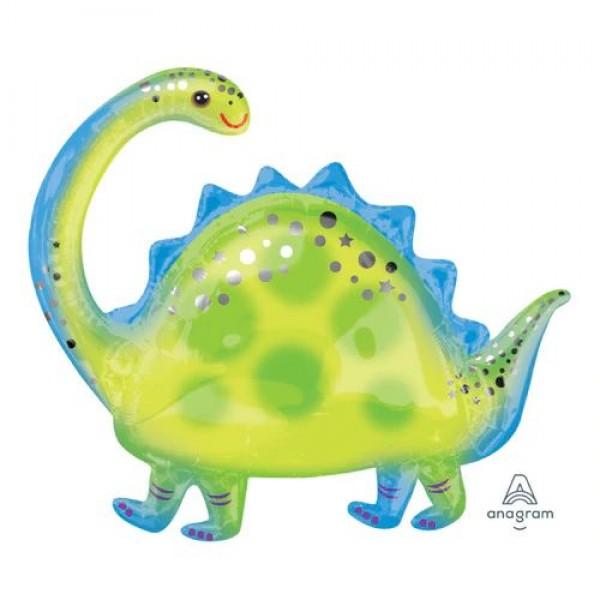 Dinosaur Balloons - Anagram 32 Inch Brontosaurus Supershape Balloon