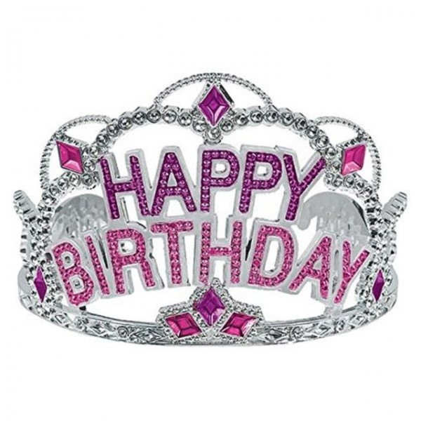 Tiara - Mytex Princess Happy Birthday Gems Wording Tiara