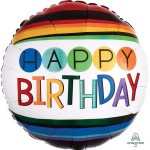 Anagram 17 Inch Rainbow Happy Birthday Balloon