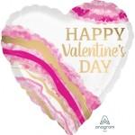 Anagram 18 Inch Watercolour Geode Valentine Day