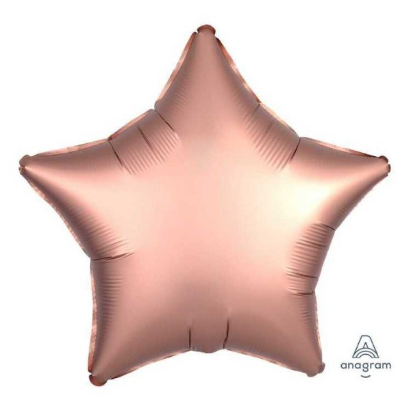 Stars Shape Balloons - Anagram 19 inch Satin Luxe Rose Copper Star Foil Balloon