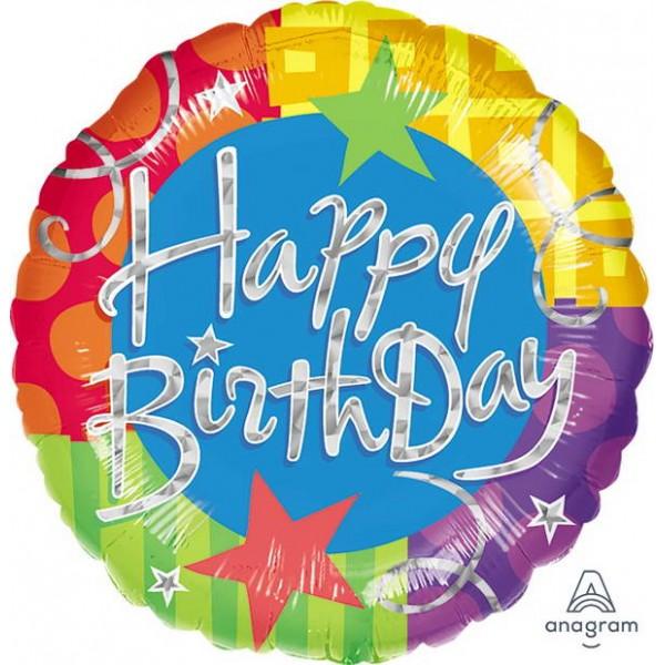 Birthday Balloons - Anagram 18 Inch Birthday Blitz Round