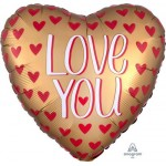 Anagram 18 Inch Satin Love You Gold