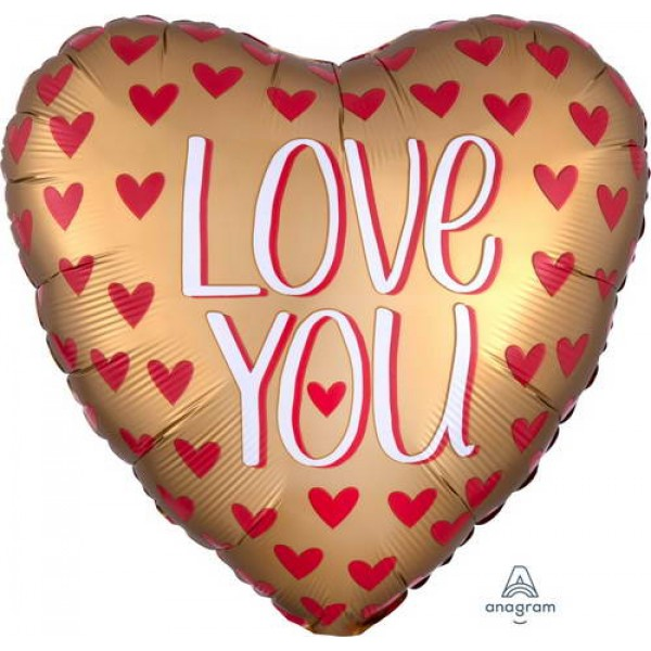 Love & Affection - Anagram 18 Inch Satin Love You Gold